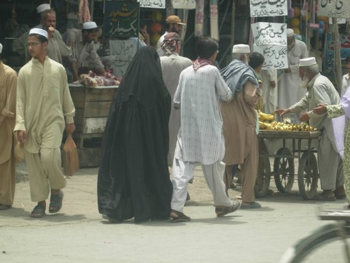 Burka, em Mardan - Fotografias não são ben-vindas!