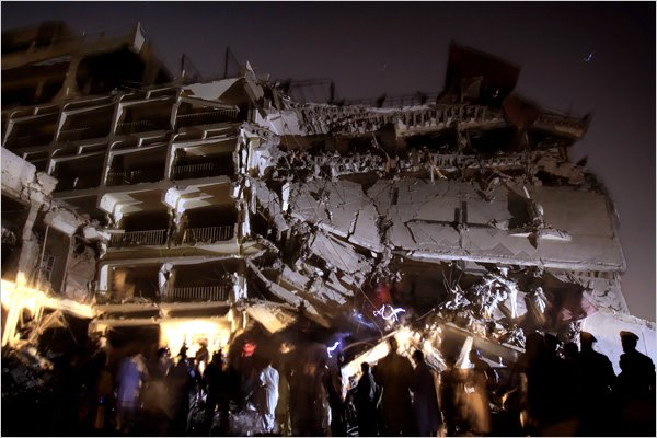 Hotel Peshawar Pearl Continental depois do atentado
