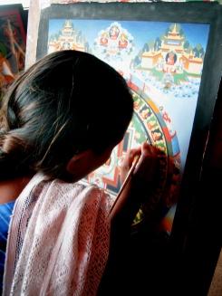 Mandala - Cooperativa no templo budista Boudnath