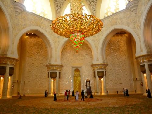 Interior da Mesquita Sheikh Zayed