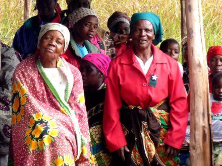 Mulheres no encontro comunitário
