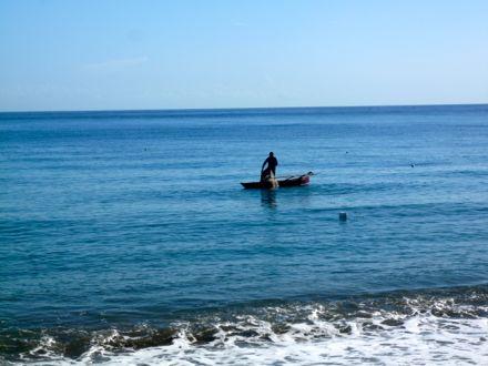 Pescador no seu trabalho diário